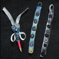 Bracelets et petite déco en fermeture éclair