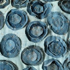 Rondelles de jean superposées