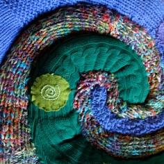 Manches de pull rembourrées et enroulées
